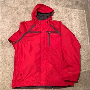 Columbia Men's Red Omni-Shield Outer Shell Jacket
